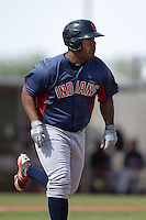 Cleveland Indians first baseman Nelson Rodriguez (41) during an Instructional League game against the Kansas City Royals on October 9, 2013 at Surprise Stadium Training Complex in Surprise, Arizona.  (Mike Janes/Four Seam Images)