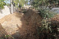 Pictured: The stream that runs past the second site where a search took place in Kos, Greece. Monday 17 October 2016<br />