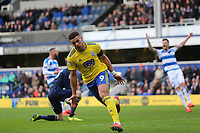 Che Adams of Birmingham City scores and celebrates his second goal during Queens Park Rangers vs Birmingham City, Sky Bet EFL Championship Football at Loftus Road Stadium on 9th February 2019
