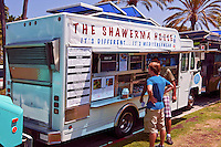 The Shawerma House, Food Truck, Mid Wilshire, Los Angeles CA. Miracle Mile district.