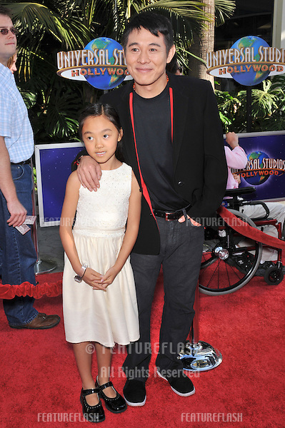 "Jet Li & daughter Jane at the premiere of her new movie ""The Mummy: Tomb of the Dragon Emperor"" at Universal Studios, Hollywood..July 27, 2008  Los Angeles, CA.Picture: Paul Smith / Featureflash"