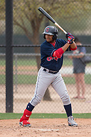 Cleveland Indians shortstop Aaron Bracho (10) during a Minor League Spring Training game against the Chicago White Sox at Camelback Ranch on March 16, 2018 in Glendale, Arizona. (Zachary Lucy/Four Seam Images)