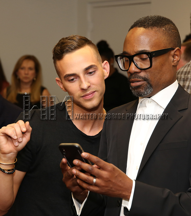 """Adam Rippon and Billy Porter attends the cast photo call for """"Laramie: A Legacy""""  on September 24, 2018 at The Gerald W. Lynch Theater at John Jay College in New York City."""