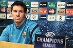 UEFA Champions League, Barcelona, Camp Nou, Press conference before match FC Barcelona v FC Viktoria Plzen. Picture show Leo Mesi