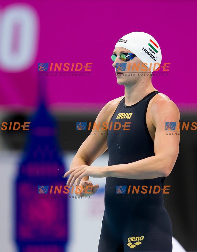 HOSSZU Katinka HUN<br /> London, Queen Elizabeth II Olympic Park Pool <br /> LEN 2016 European Aquatics Elite Championships <br /> Swimming<br /> Women's 200m medley semifinal  <br /> Day 10 18-05-2016<br /> Photo Giorgio Perottino/Deepbluemedia/Insidefoto