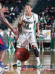 North Texas Mean Green guard Tristan Thompson (14) in action during the NCAA  basketball game between the South Alabama Jaguars and the University of North Texas Mean Green at the North Texas Coliseum,the Super Pit, in Denton, Texas. UNT defeated South Alabama 82 to 79...