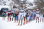 12 MAR 2016:  Mads Stroem (2) of the University of Colorado competes during the Men's 20K Classic event at the 2016 NCAA Men and Women's Skiing Championships held at the Howelsen Hill Ski Area in Steamboat Springs, CO.   Stroem won the national title.  Jamie Schwaberow/NCAA Photos