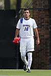 28 August 2015: DePaul's John Freitag. The Elon University Phoenix played the DePaul University Blue Demons at Koskinen Stadium in Durham, NC in a 2015 NCAA Division I Men's Soccer match. Elon won the game 4-0.