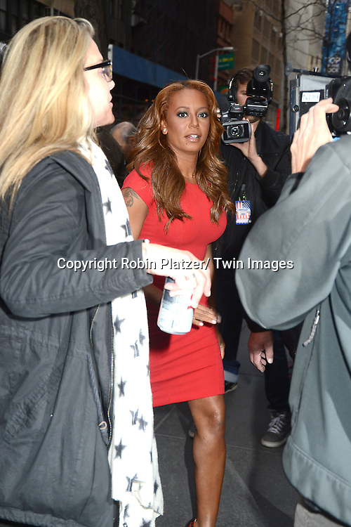 """Mel B  arrives to the """"America's Got Talent""""  New York Auditions on April 8, 2013 at the Today Show in New York City. ."""