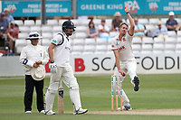 Matt Quinn in bowling action for Essex during Essex CCC vs Warwickshire CCC, Specsavers County Championship Division 1 Cricket at The Cloudfm County Ground on 14th July 2019