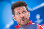 Atletico de Madrid's coach Diego Simeone attends to press conference before UEFA Champions League match between Atletico de Madrid and Chelsea at Wanda Metropolitano in Madrid, Spain September 26, 2017. (ALTERPHOTOS/Borja B.Hojas)