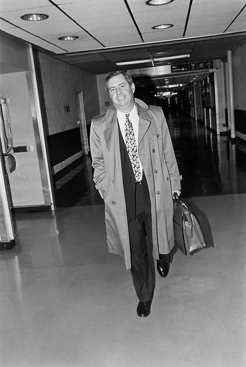 Rep. Larry LaRocco, D-Idaho going to his place on Nov. 27, 1991. (Photo by Maureen Keating/CQ Roll Call)