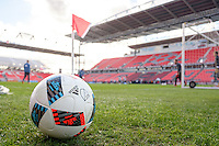 Toronto, ON, Canada - Friday Dec. 09, 2016: Ball during training prior to MLS Cup at BMO Field.