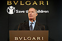 TOKYO - NOVEMBER 28: Italian jeweler Bvlgari Group announced in Tokyo that it will sell charity rings and pendants from Feb 18 to raise money for the UK-based international non-government organization ?Save the Children.? The project is part of the group?s 125th anniversary campaign in 2009. (Photo by Taro Fujimoto/Japan Today/Nippon News)