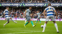 Blackburn Rovers' Derrick Williams (centre) playing a through ball<br /> <br /> Photographer Andrew Kearns/CameraSport<br /> <br /> The EFL Sky Bet Championship - Queens Park Rangers v Blackburn Rovers - Saturday 5th October 2019 - Loftus Road - London<br /> <br /> World Copyright © 2019 CameraSport. All rights reserved. 43 Linden Ave. Countesthorpe. Leicester. England. LE8 5PG - Tel: +44 (0) 116 277 4147 - admin@camerasport.com - www.camerasport.com