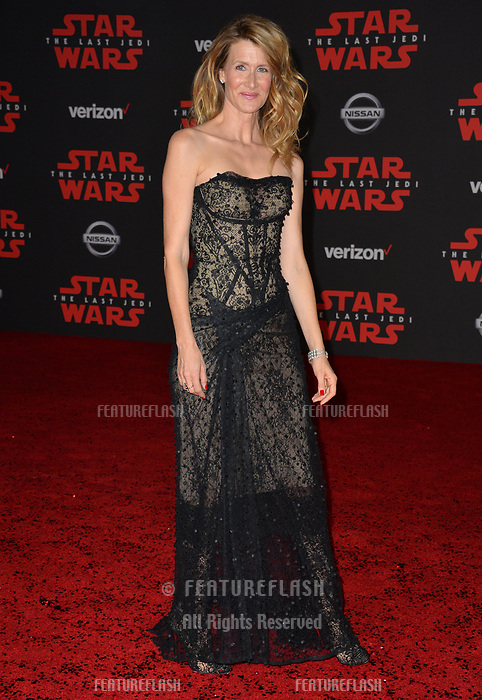 "Laura Dern at the world premiere for ""Star Wars: The Last Jedi"" at the Shrine Auditorium. Los Angeles, USA 09 December  2017<br /> Picture: Paul Smith/Featureflash/SilverHub 0208 004 5359 sales@silverhubmedia.com"