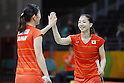 Ayaka Takahashi &amp; Misaki Matsutomo (JPN), <br /> AUGUST 15, 2016 - Badminton : <br /> Women's Doubles Quarter finals<br /> at Riocentro - Pavilion 4 during the Rio 2016 Olympic Games in Rio de Janeiro, Brazil. <br /> (Photo by Yusuke Nakanishi/AFLO SPORT)