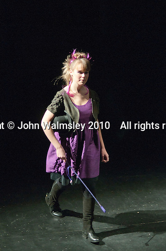 "Athletes from the Special Olympics team model clothes designed for them by fashion students from Kingston College. Special Olympics Surrey put on a show,   ""Beyond the Stars"", at the Rose Theatre, Kingston upon Thames to raise money for the  SOGB team.  The Special Olympics are for athletes with learning disabilities."