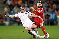 SPAIN v BELARUS. 15TH UEFA EUROPEAN CHAMPIONSHIP QUALIFYING ROUND.