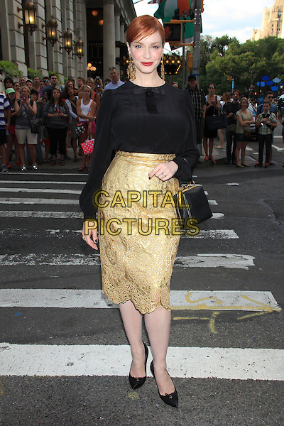 NEW YORK, NY - JULY 17: Christina Hendricks at the New York Premiere of &quot;Magic in the Moonlight&quot; at the Paris Theatre on July 17, 2014 in NEW YORK CITY<br /> CAP/LNC/TOM<br /> &copy;TOM/LNC/Capital Pictures