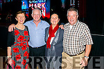 L-R Angela Dowling and PJ Kelly from Tralee, Marion Kavanagh from Dingle and Tom Kirwan from Kilkenny at the DJ Curtin and Mark Leen concert in the INEC Killarney last Sunday night.