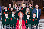 Scartaglen NS pupils with Bishop Ray Browne and Principal Paul Moroney at their Confirmation in St Stephen and John church Castleisland on Thursday