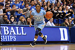06 February 2012: North Carolina's Brittany Rountree. The Duke University Blue Devils defeated the University of North Carolina Tar Heels 96-56 at Cameron Indoor Stadium in Durham, North Carolina in an NCAA Division I Women's basketball game.