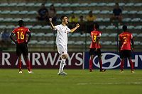 29th October 2019; Bezerrao Stadium, Brasilia, Distrito Federal, Brazil; FIFA U-17 World Cup Brazil 2019, Angola versus Canada; Damiano Pecile of Canada celebrates the goal by Jacen Russell-Rowe in the 49th minute, 1-1 - Editorial Use