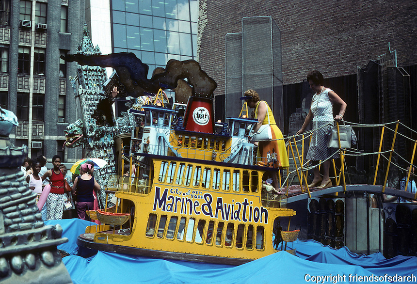 New York: Ruckus Manhattan by Red Grooms. Staten Island Ferry. Photo '78.