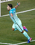 FC Barcelona's Luis Suarez celebrates goal during Spanish Kings Cup semifinal 1st leg match. February 01,2017. (ALTERPHOTOS/Acero)
