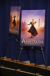 Theatre Poster at the ''Anastasia' Cast Photo Call at the New 42nd Street Studios on February 22, 2017 in New York City.
