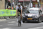 World Champion Tom Dumoulin (NED) Team Sunweb recons the course before Stage 1 of the 101st edition of the Giro d'Italia 2018 an individual time trial of 9.7km around Jerusalem, Israel. 4th May 2018.<br /> Picture: LaPresse/Fabio Ferrari | Cyclefile<br /> <br /> <br /> All photos usage must carry mandatory copyright credit (&copy; Cyclefile | LaPresse/Fabio Ferrari)