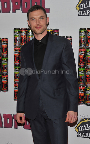 New York,NY-FEBRUARY 08: Ed Skrein at the 'Deadpool' fan event at AMC Empire Theatre on February 8, 2016 in New York City. Credit: John Palmer/MediaPunch