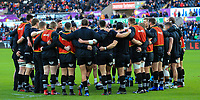 Ospreys players during the pre match warm up.<br /> <br /> Photographer Dan Minto/CameraSport<br /> <br /> Guinness Pro14 Round 13 - Ospreys v Cardiff Blues - Saturday 6th January 2018 - Liberty Stadium - Swansea<br /> <br /> World Copyright &copy; 2018 CameraSport. All rights reserved. 43 Linden Ave. Countesthorpe. Leicester. England. LE8 5PG - Tel: +44 (0) 116 277 4147 - admin@camerasport.com - www.camerasport.com