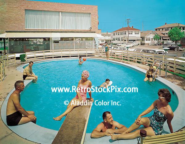 Eden Roc Motel in the 1960's. Wildwood, New Jersey.