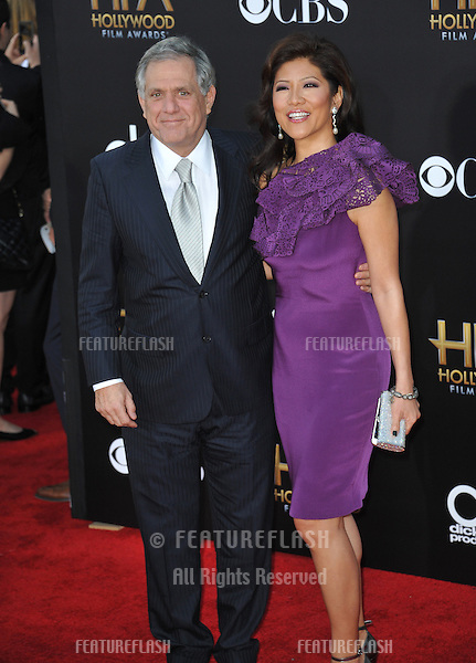 Leslie Moonves &amp; Julie Chen at the 2014 Hollywood Film Awards at the Hollywood Palladium.<br /> November 14, 2014  Los Angeles, CA<br /> Picture: Paul Smith / Featureflash