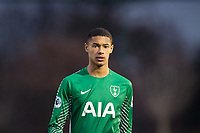 Goalkeeper Brandon Austin of Spurs U19 during the UEFA Youth League match between Tottenham Hotspur U19 and Apoel Nicosia (APOEL) at Tottenham Hotspur Training Ground, Hotspur Way, England on 6 December 2017. Photo by Andy Rowland.