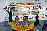 11 August 2007: Penske Motorsports drivers Timo Bernhard (DEU) and Romain Dumas (FRA) celebrate their victory at the Generac 500 at Road America, Elkhart Lake, WI.