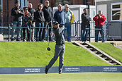2nd October 2017, The Old Course, St Andrews, Scotland; Alfred Dunhill Links Championship golf practice round; Ireland's Padraig Harrington tees off on the first hole of the Old Course, St Andrews, during a practice round before the Alfred Dunhill Links Championship