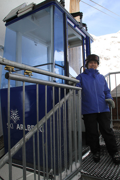 Start of Valluga 2 lift to top, St Anton, Austria,