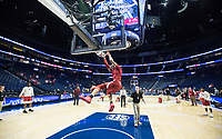 NWA Democrat-Gazette/BEN GOFF @NWABENGOFF<br /> Daniel Gafford, Arkansas forward, warms up Thursday, March 14, 2019, before the second round game vs Florida in the SEC Tournament at Bridgestone Arena in Nashville.