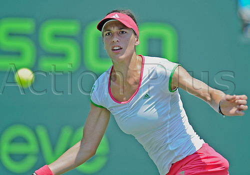 31.03.2011 Andrea Petkovic plays against Maria Sharapova in the semifinals of the Sony Ericsson Open at the Tennis Center at Crandon Park Key Biscayne Florida.  Sharapova  won the match 3-6 6-0 6-2.