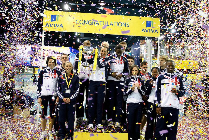 Photo: Richard Lane/Richard Lane Photography. Aviva International Match. 30/01/2010. Great Britain team celebration.