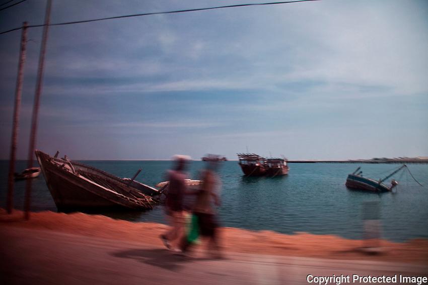 Boats on shore near Berbera, Somaliland.