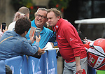 Wales Phil Glenister has a selfie with fans <br /> <br /> Celebrity Cup 2019 - Golf - Celtic Manor resort - Saturday 13th July 2019 - Newport<br /> <br /> © www.fotowales.com- PLEASE CREDIT IAN COOK