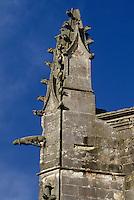 """Europe/France/Poitou-Charentes/17/Charente-Maritime/Ile de Ré/Saint-Martin-de-Ré: Eglise Saint-Martin applée """"Grand Fort"""" (XVème) - Détail gargouille"""
