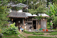 The main house at Brown's Field, Isumi, Chiba Prefecture, Japan, August 9, 2009.The organic farm introduces healthy and sustainable living in the Japanese countryside. It is staffed by the Brown family and volunteers from around the world.