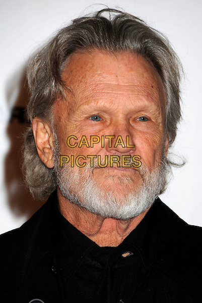KRIS KRISTOFFERSON.43rd Annual CMA Awards, Country Music's Biggest Night, held at the Sommet Center, Nashville, Tennessee, USA..November 11th, 2009.headshot portrait black beard facial hair .CAP/ADM/LF.©Laura Farr/AdMedia/Capital Pictures.