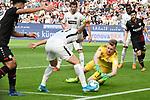 14.04.2018, BayArena, Leverkusen , GER, 1.FBL., Bayer 04 Leverkusen vs. Eintracht Frankfurt<br /> im Bild / picture shows: <br /> Torwart Lukas Hradecky (Frankfurt #1),  <br /> <br /> <br /> Foto &copy; nordphoto / Meuter