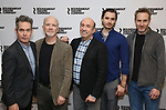 "Tom Hollander, Dan Butler, Patrick Kerr, Seth Numrich, and Peter McDonald attends the ""Travesties"" Meets The Press on March 6, 2018 at the Roundabout Theatre in New York City."